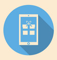 smartphone with gift box icon flat design with vector image vector image