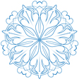 snowflake blue flower on a white background vector image vector image