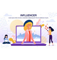 social network users influencer poster vector image vector image
