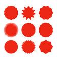 starburst promo red sticker shape sale vector image