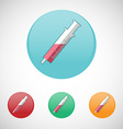 Syringe injector icon set vector image vector image