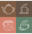 tea and coffee logos vector image