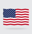 usa flag zigzag isolated on background vector image vector image