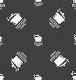vegetarian cuisine sign Seamless pattern on a gray vector image vector image