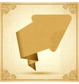 Vintage origami arrow Background vector image vector image