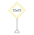 warning road signs design vector image vector image