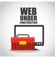 web page under construction vector image vector image