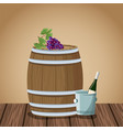 wine and winery on wooden table vector image vector image