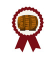 wooden barrel icon vector image