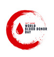 world blood donor day concept design background vector image