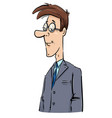 young businessman caricature drawing vector image vector image