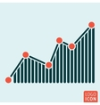 Graph icon isolated vector image