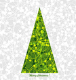 Stylized Christmas card with Christmas tree vector image