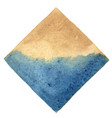 abstract blue and brown square banner watercolor vector image vector image