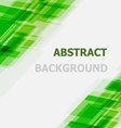 Abstract green geometric overlapping background vector image vector image