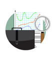 analytics and data analysis vector image vector image