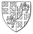 arms of duke of wellington is a heraldry shield vector image vector image