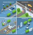 autonomous cars design concept vector image vector image