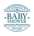 Baby Shower Boy Emblem vector image vector image