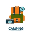 Backpack Camping icon vector image