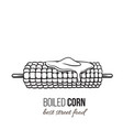 boiled corn on stick vector image vector image