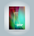 business brochure cover design template modern vector image
