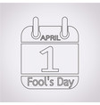 calendar of april fools day icon vector image