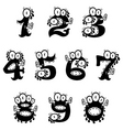 cartoon monster numerals vector image