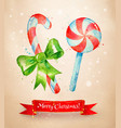 christmas postcad with candies vector image vector image