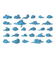 cloud in chinese style abstract blue cloudy set vector image