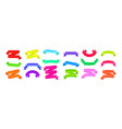 colorful ribbons collection vector image