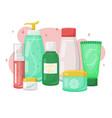 cosmetics cream gel and liquids vector image vector image