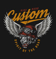 custom motorcycle colorful label vector image vector image