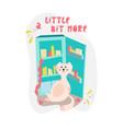 cute bloated cat near the fridge in cartoon flat vector image vector image