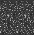 dark pattern with doodle hand drawn arrows vector image