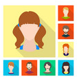 design of avatar and dummy symbol vector image