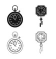 design of clock and time sign collection vector image