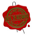do not open until 25 december red wax seal vector image