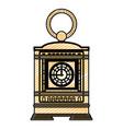 doodle mantel clock manual structure design vector image