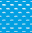 double decker bus pattern seamless blue vector image vector image
