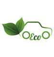 eco car vector image