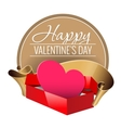Emblem Congratulations to the Valentines Day vector image vector image