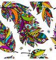 feathers seamless pattern for your design vector image