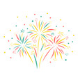 firework hand drawn isolated vector image