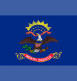 flag usa state north dakota vector image vector image