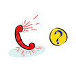 frequently asking questions or hotline icon with vector image vector image