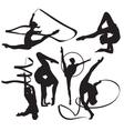 gymnasts vector image