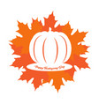 happy thanksgiving day natural label vector image vector image