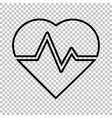 Heartbeat sign Line icon vector image vector image