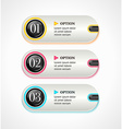 Horizontal silver options banners or buttons with vector image vector image